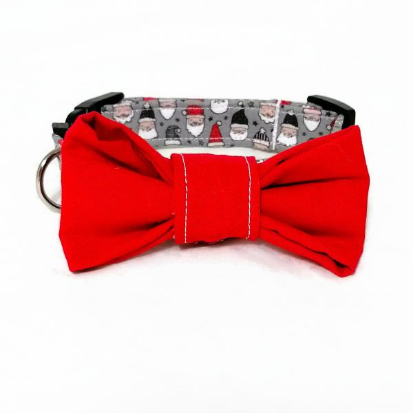 Dog Collar with Bow Tie - Santa