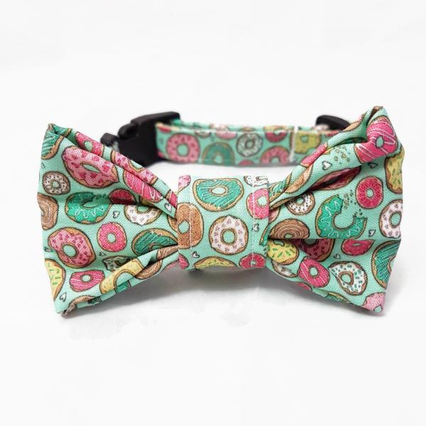 Dog Collar with Bow Tie - Donut 2.0 - Mint
