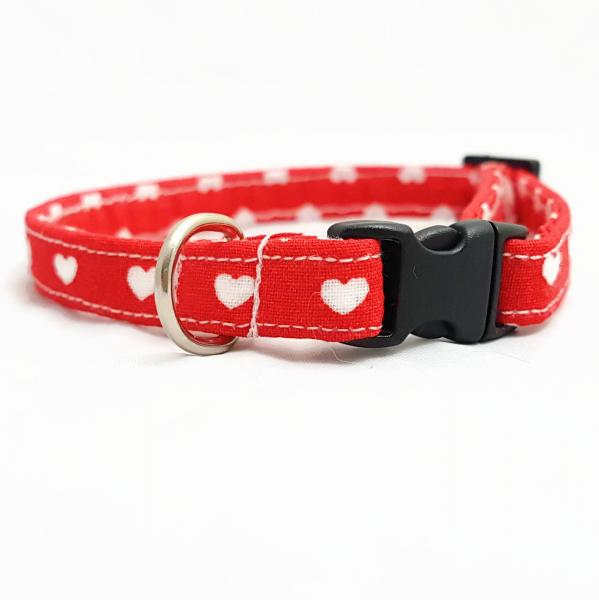Cat Collar - Hearts - Light Pink - Kopie