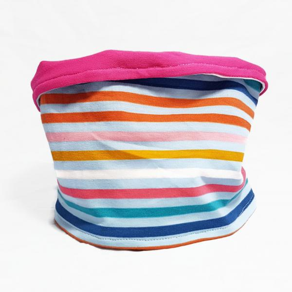 Dog Infinity Scarf/Snood - Summer Stripes
