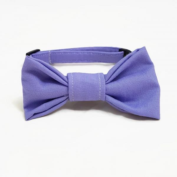 Cat Collar With Bow Tie - Lilac