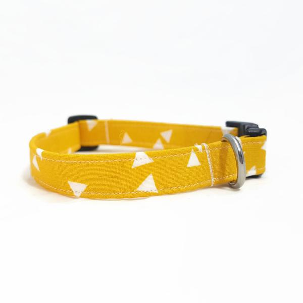 Dog Collar - Triangle - Mustard Yellow
