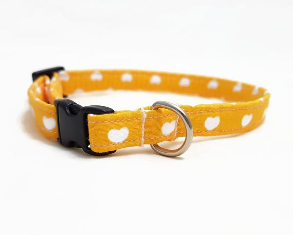 Cat Collar - Hearts - Yellow