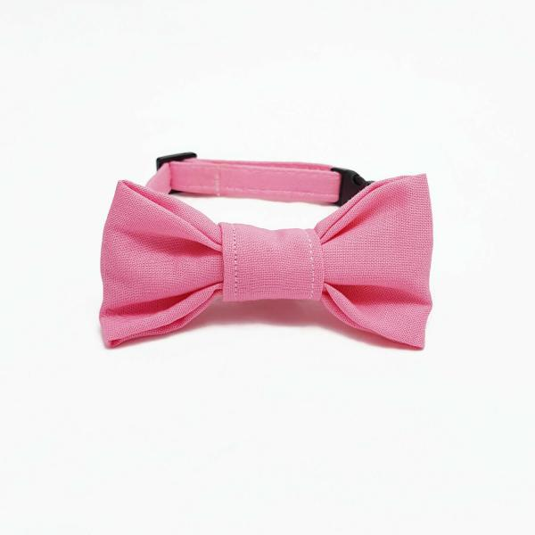 Cat Collar With Bow Tie - Light Pink