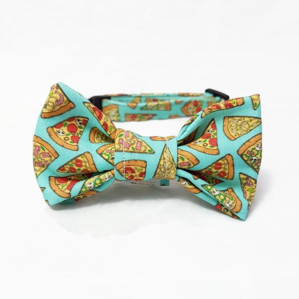 Cat Collar With Bow Tie - Pizza